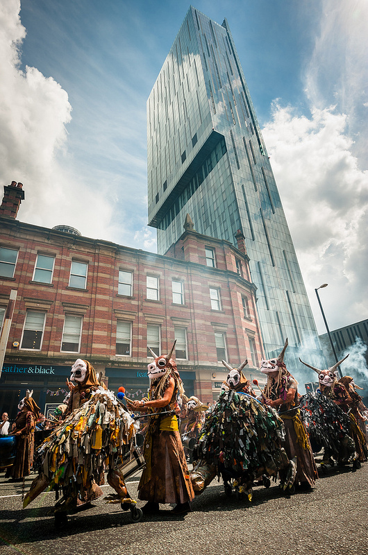 Global grooves at manchester day parade