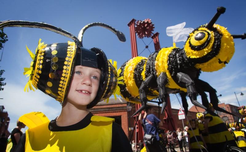 Bees at manchester day parade