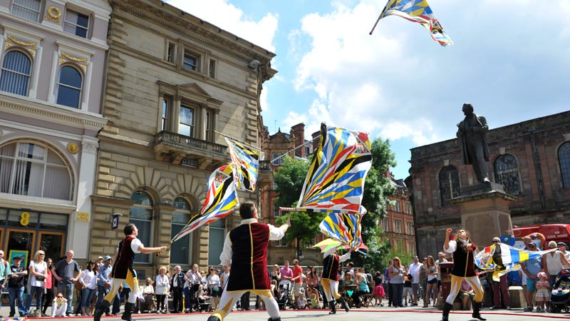 Manchester day 2015 parade float