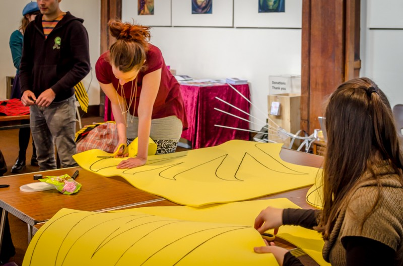 Costume creation workshop at manchester day