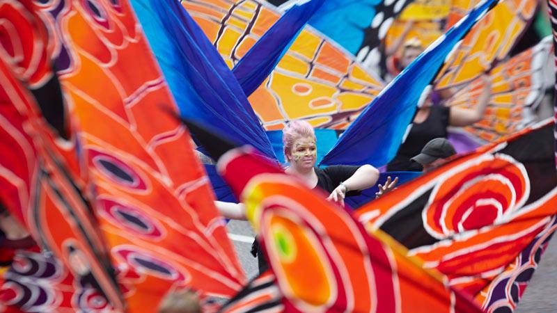 Manchester day 2015 parade float butterflies