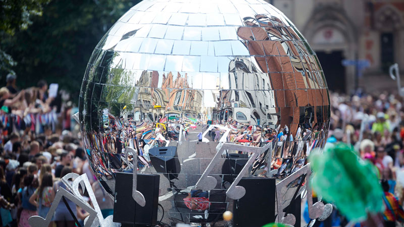 MCR DAYaManchester day 2015 parade float disco ball