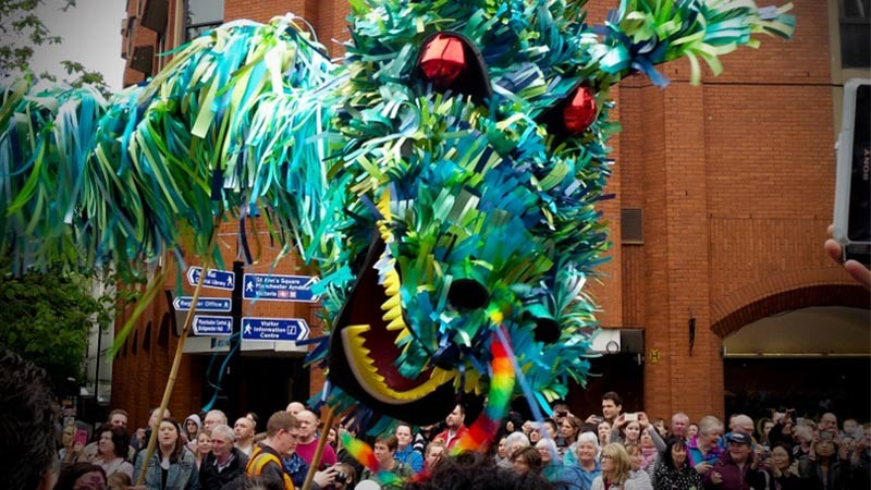 Manchester Day parade float