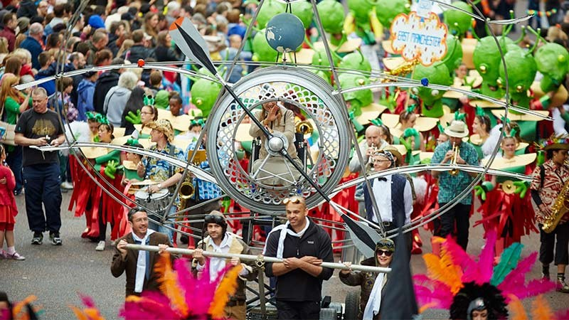 Manchester Day event parade float