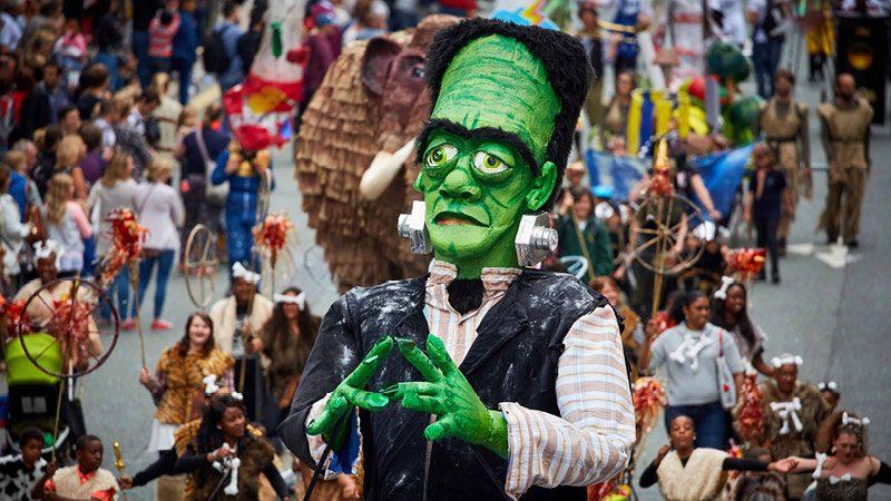Manchester Day 2016 parade float frankenstein