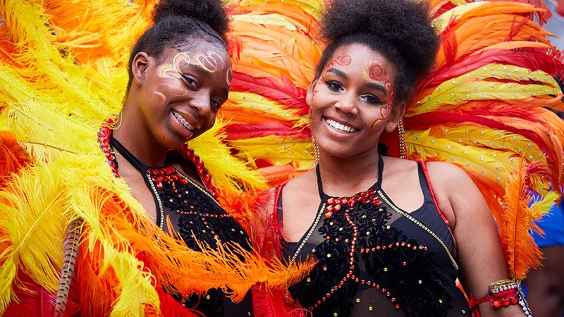 Manchester Day 2017 two women dancers smiling together