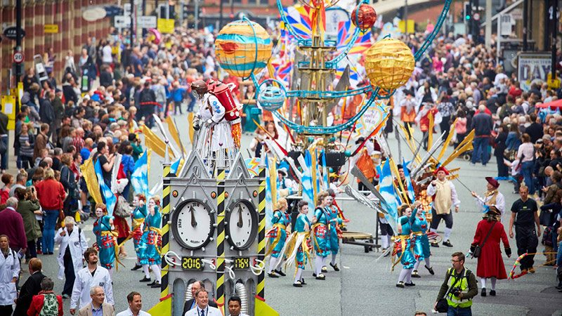 Manchester Day 2017 parade floats