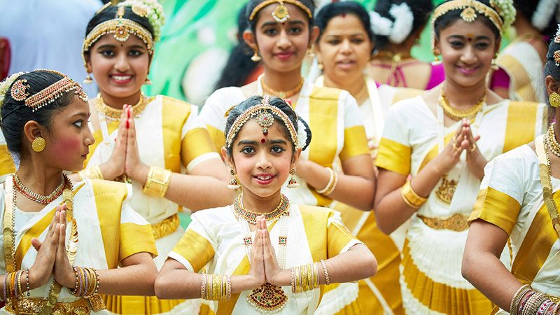 Manchester Day 2016 young indian dancers